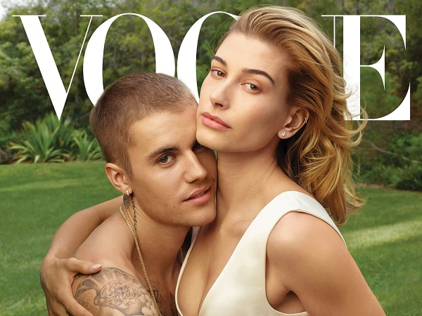 American pop star Justin Bieber and his wife Hailey Bieber