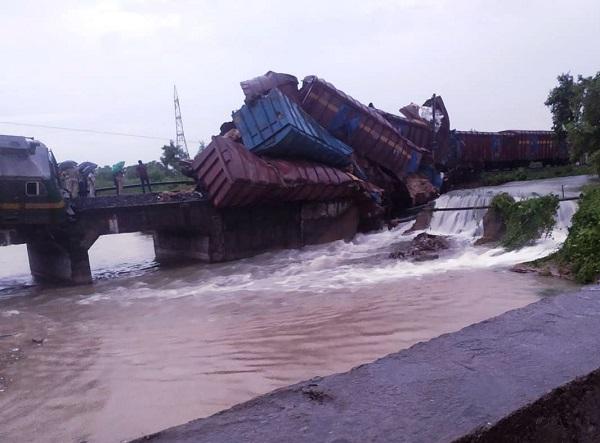 Goods train derails on Angul-Talcher Road section