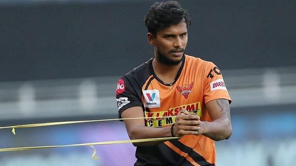Sunrisers Hyderabad player T Natarajan  (File Photo)