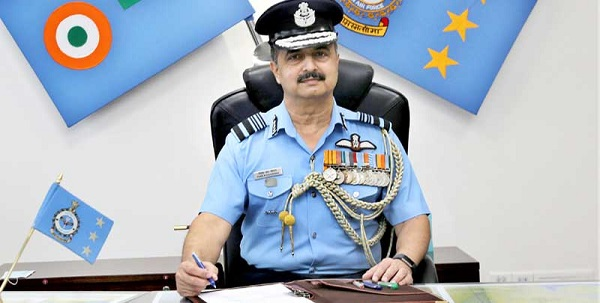 V R Chaudhari took charge as the Chief of the Air Staff yesterday