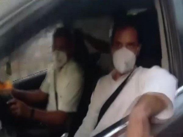 Rahul Gandhi led Cong delegation reaches Sitapur