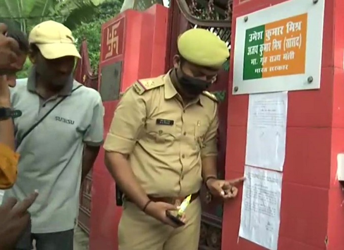 UP Police pastes another notice at MoS Teni's house