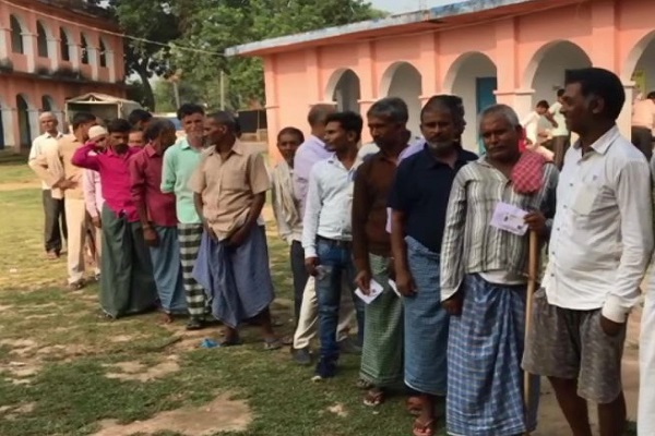 Voting for the third phase of Panchayat elections in Bihar