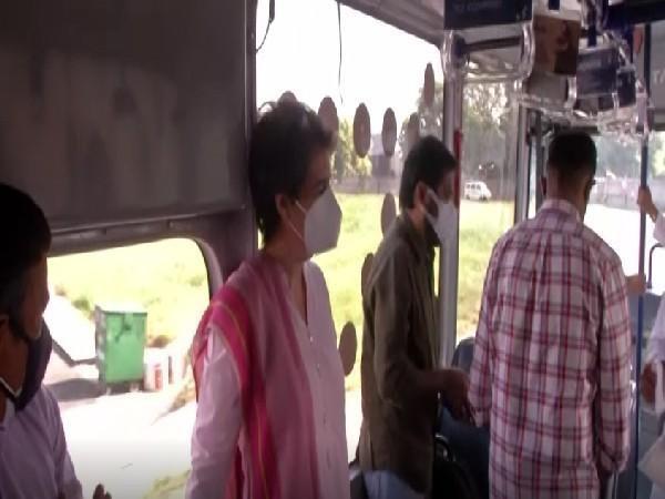 Priyanka Gandhi leaves for 'Kisan Nyay' rally in Varanasi
