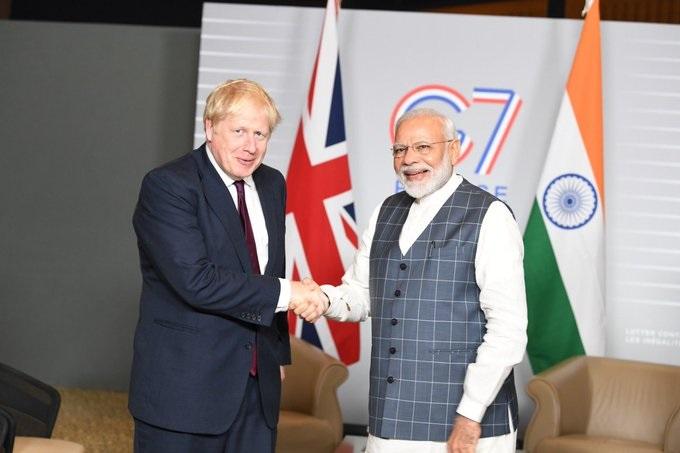 PM Modi with UK PM Johnson (File Photo)